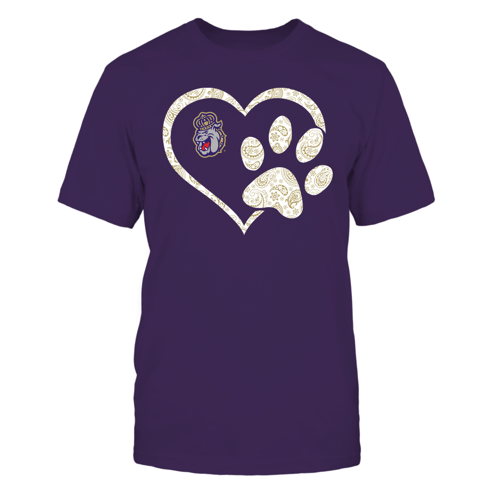 James Madison Dukes - Heart Paw Patterned - Team Front picture