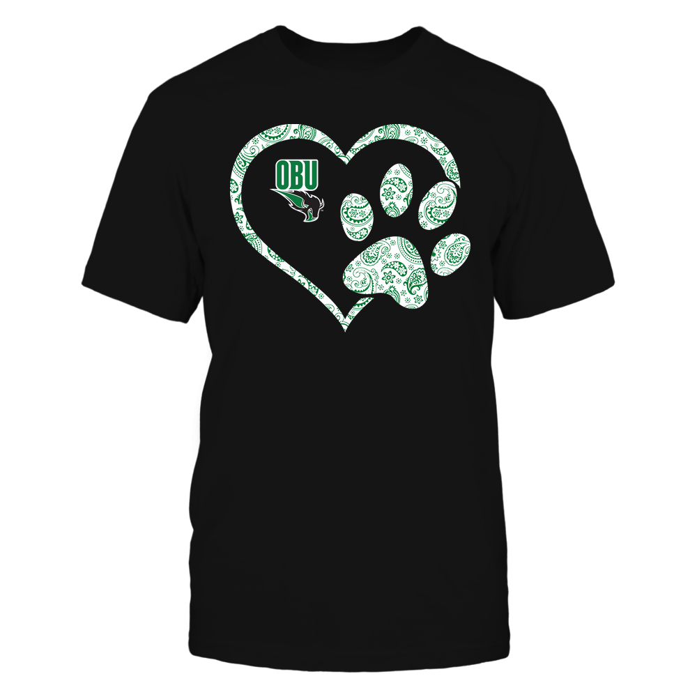 Oklahoma Baptist Bison - Heart Paw Patterned - Team Front picture