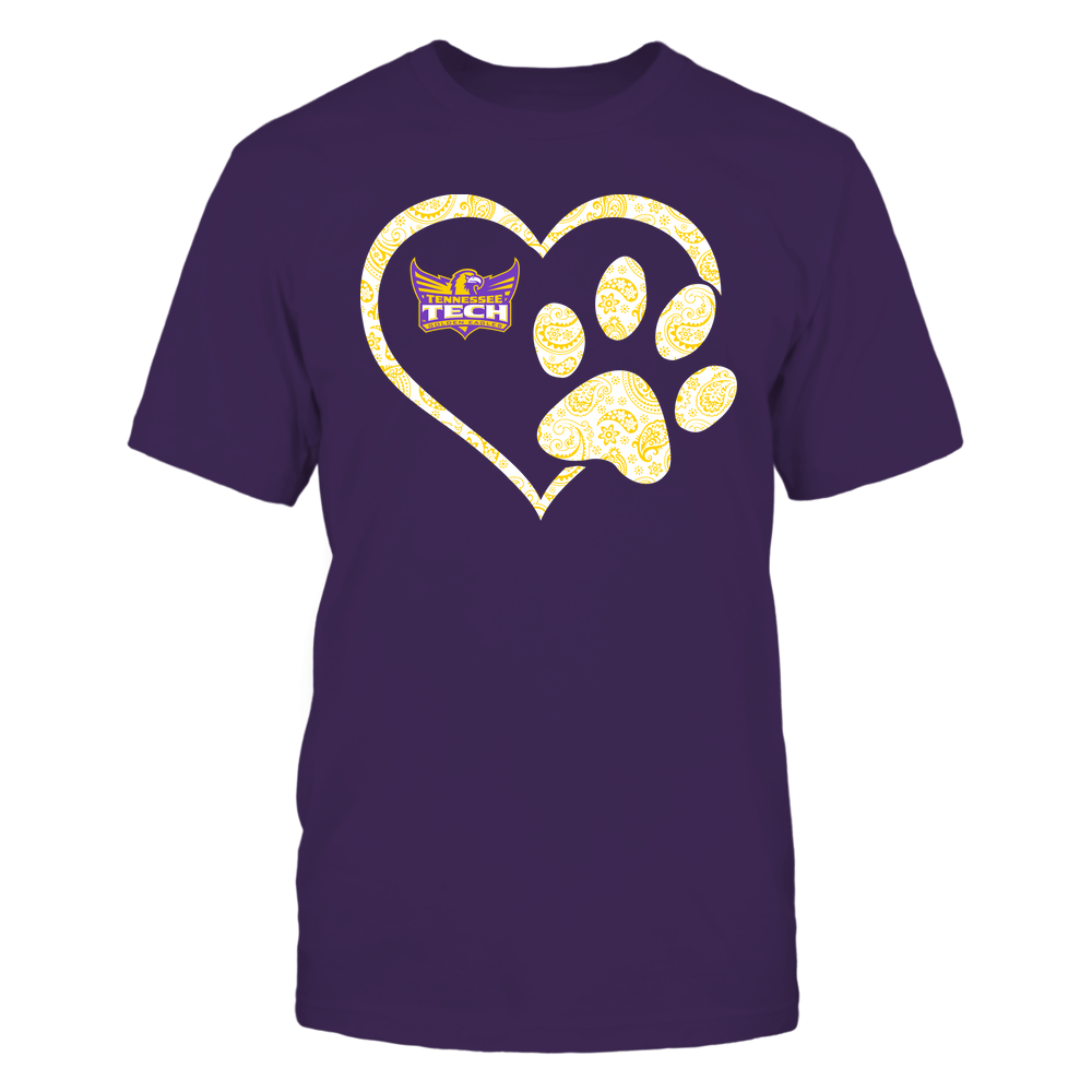 Tennessee Tech Golden Eagles - Heart Paw Patterned - Team Front picture