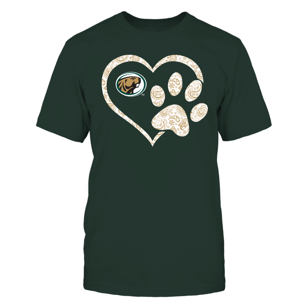 Bemidji State Beavers - Heart Paw Patterned - Team Front picture