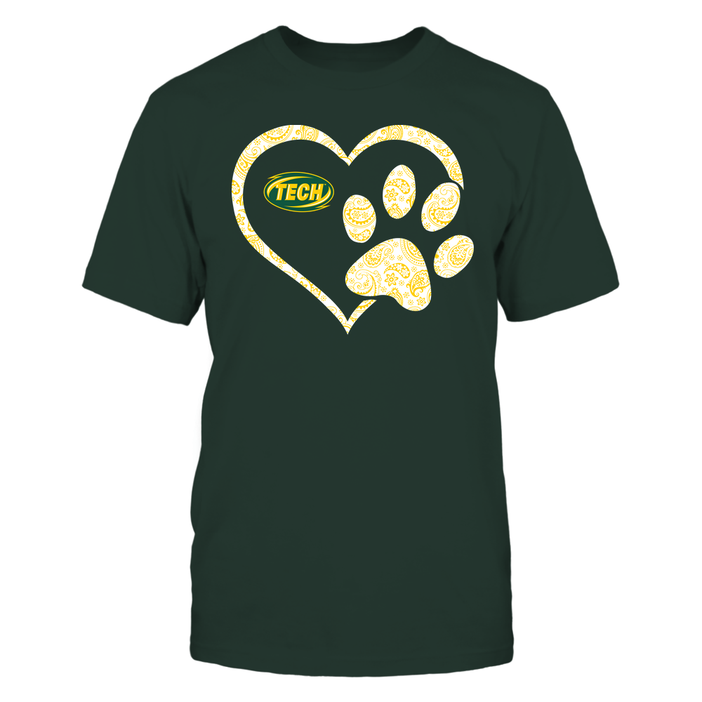 Arkansas Tech Golden Suns - Heart Paw Patterned - Team Front picture