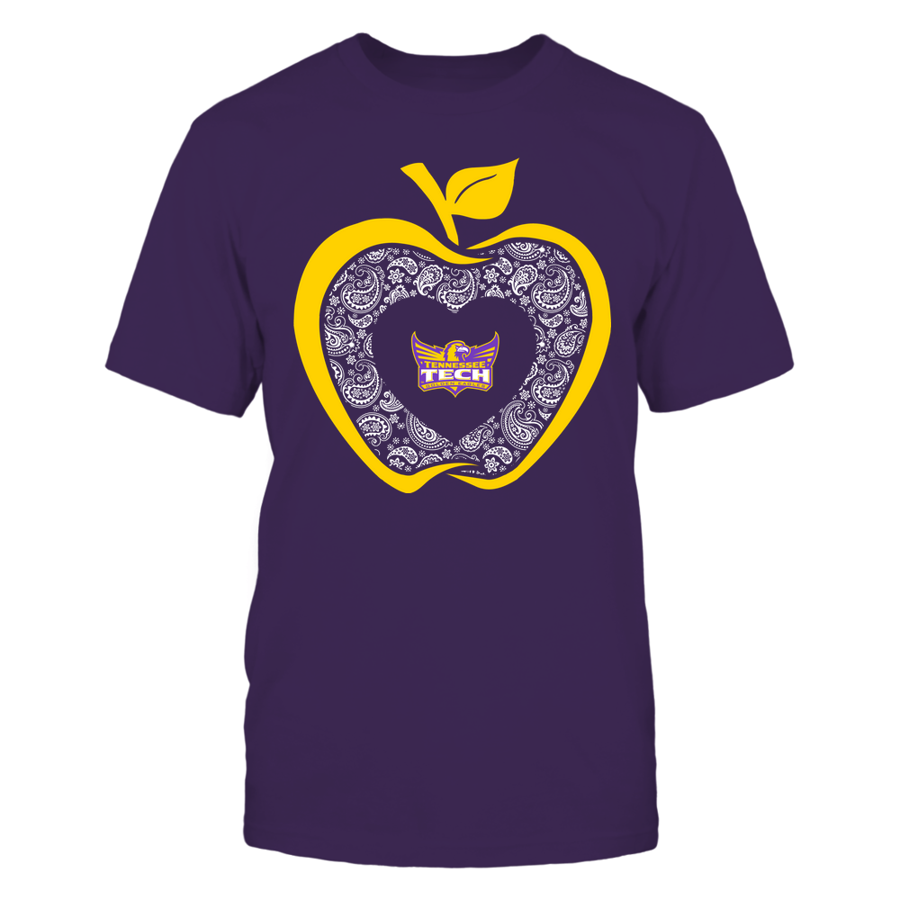 Tennessee Tech Golden Eagles - Teacher - Apple 3-4 - Paisley Pattern Front picture