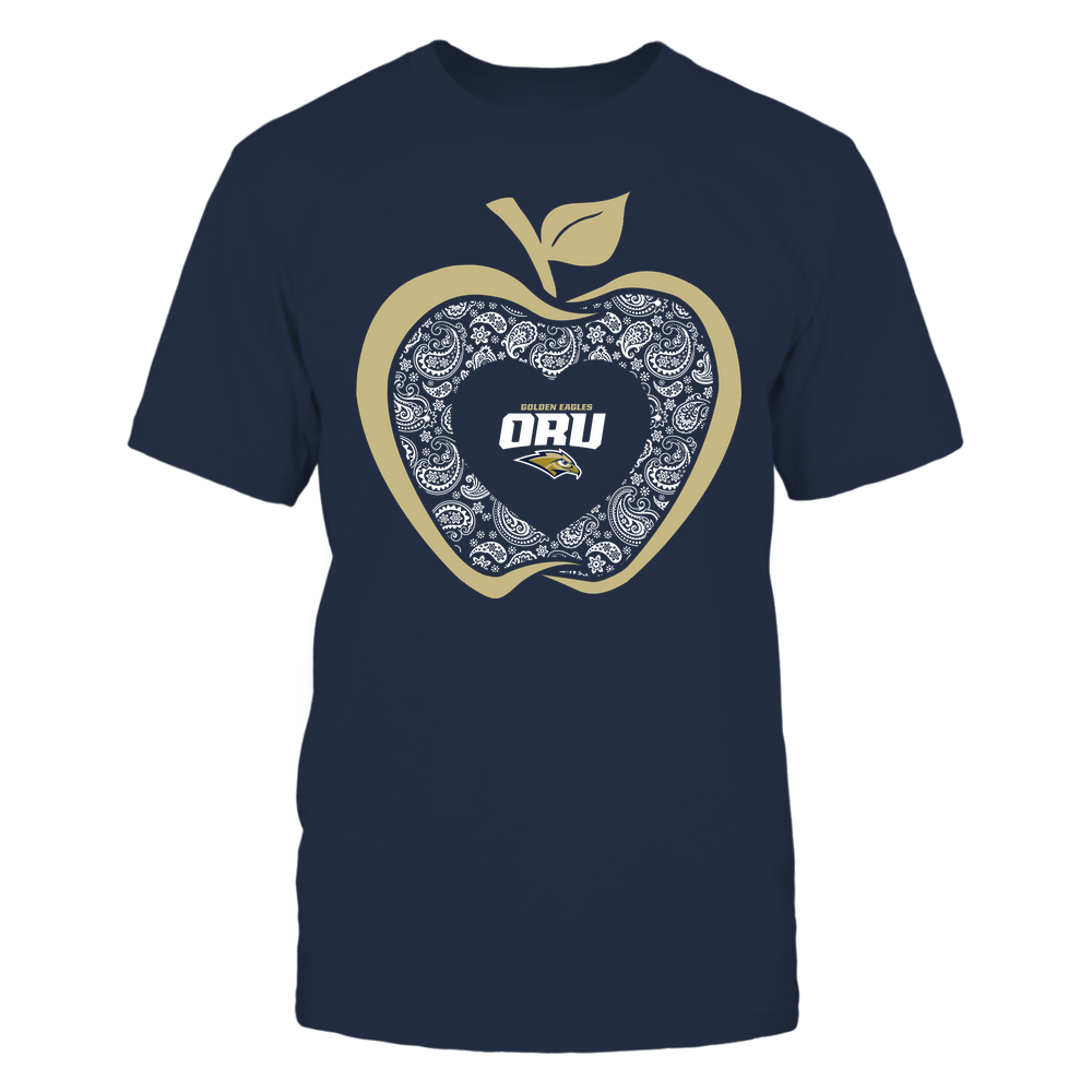 Oral Roberts Golden Eagles - Teacher - Apple 3-4 - Paisley Pattern Front picture