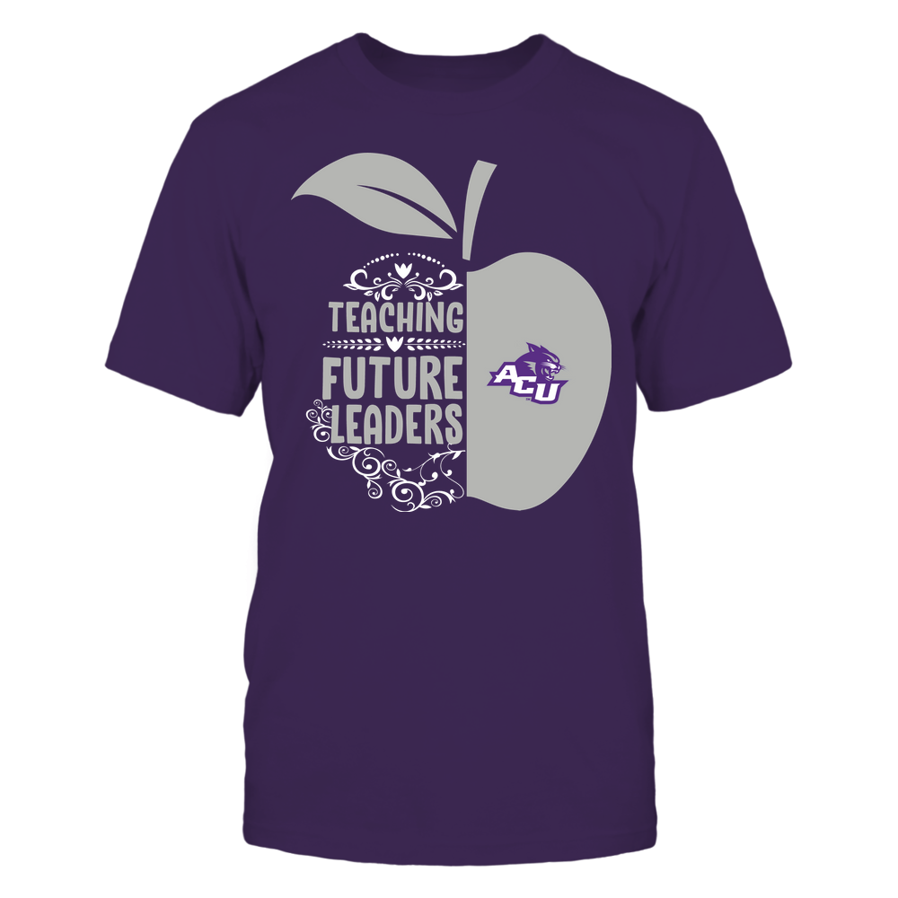 Abilene Christian Wildcats - Teacher - Teaching Future Leaders - Half Apple Front picture