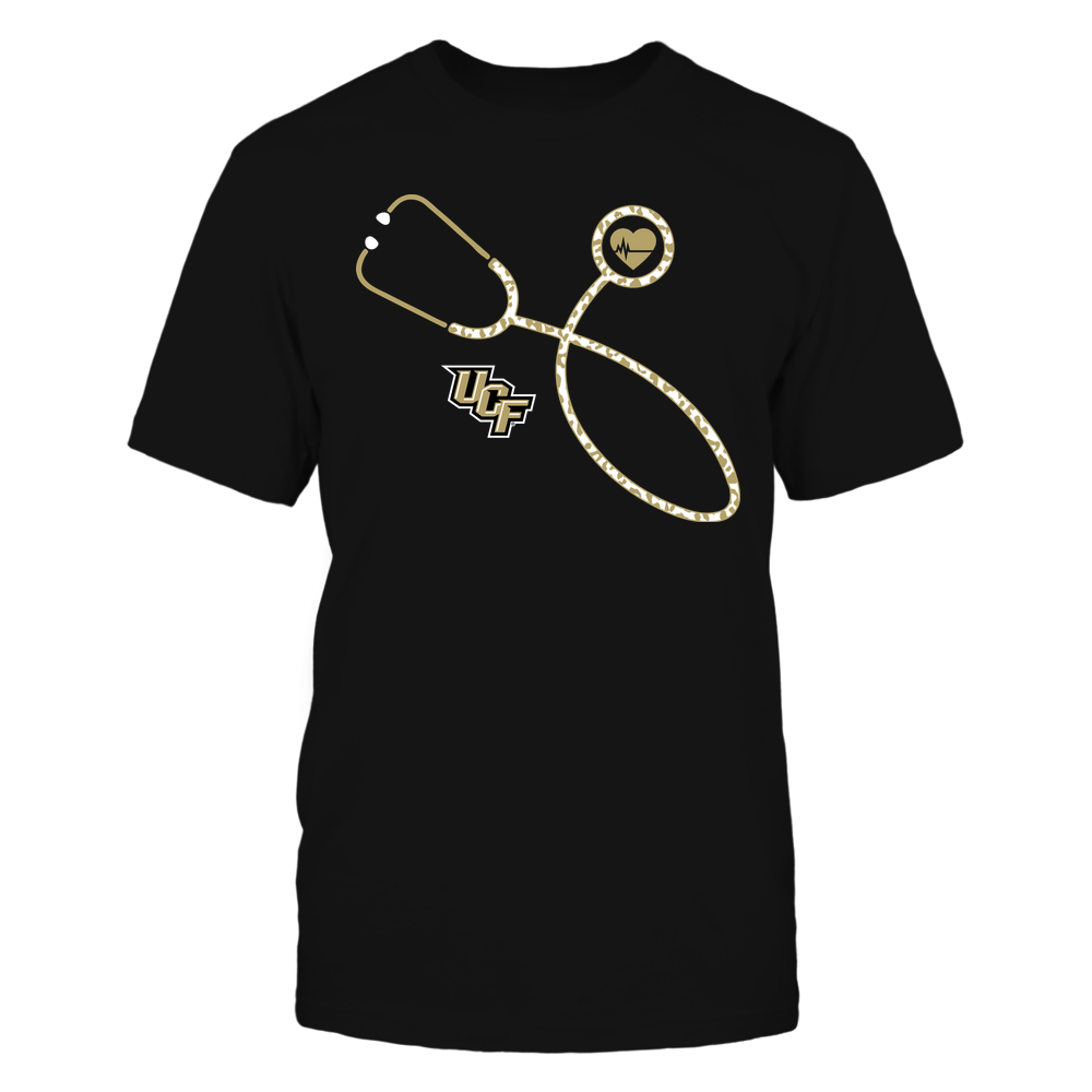 UCF Knights - Nurse - Leopard Heart - Stethoscope Front picture