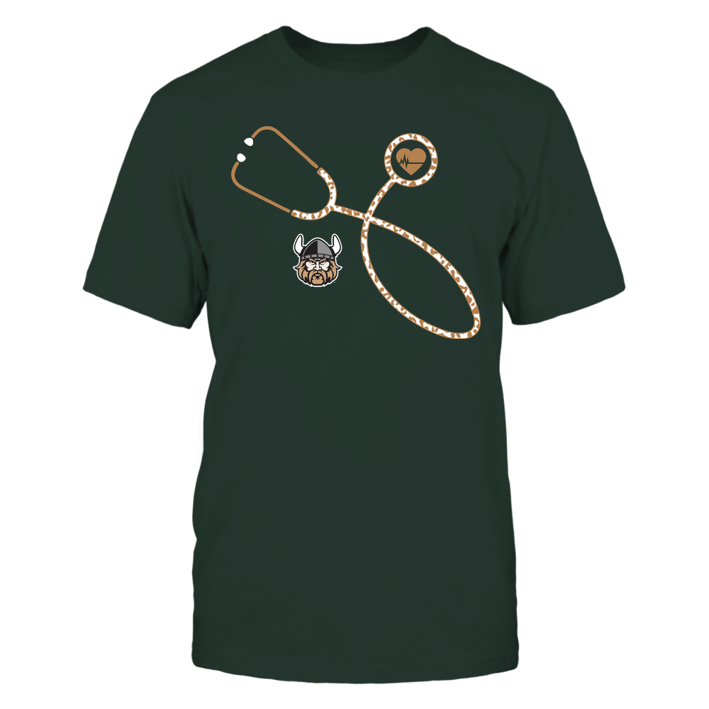 Cleveland State Vikings - Nurse - Leopard Heart - Stethoscope Front picture