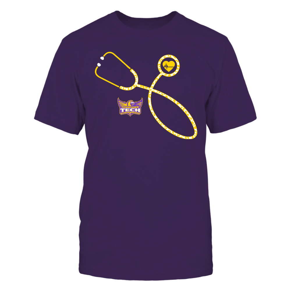 Tennessee Tech Golden Eagles - Nurse - Leopard Heart - Stethoscope Front picture