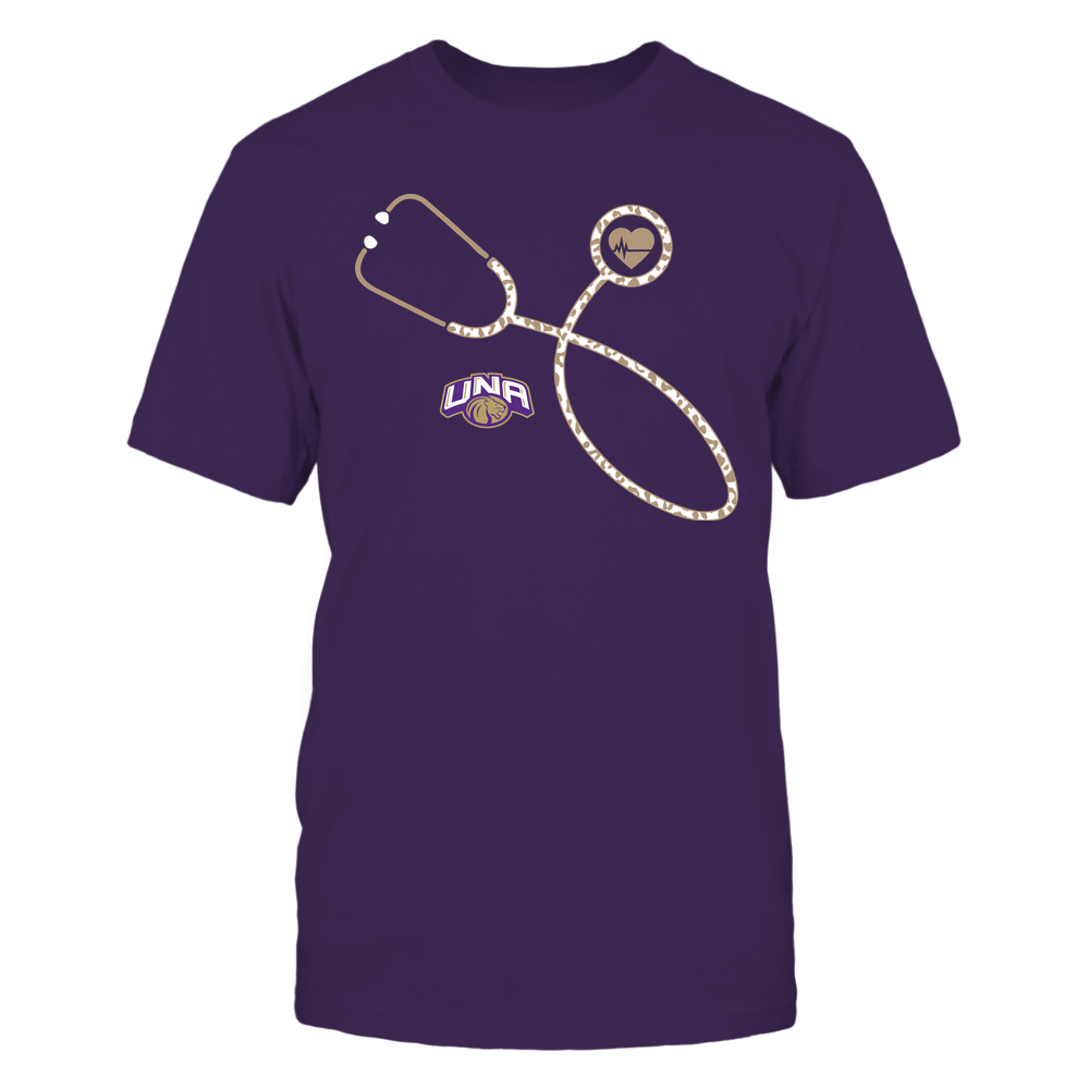 North Alabama Lions - Nurse - Leopard Heart - Stethoscope Front picture