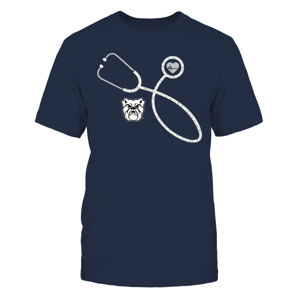 Butler Bulldogs - Nurse - Leopard Heart - Stethoscope Front picture
