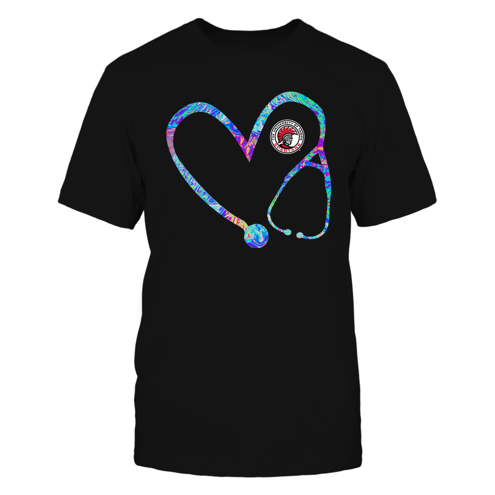 Tampa Spartans - Nurse - Stethoscope Heart - Rainbow Swirl Front picture