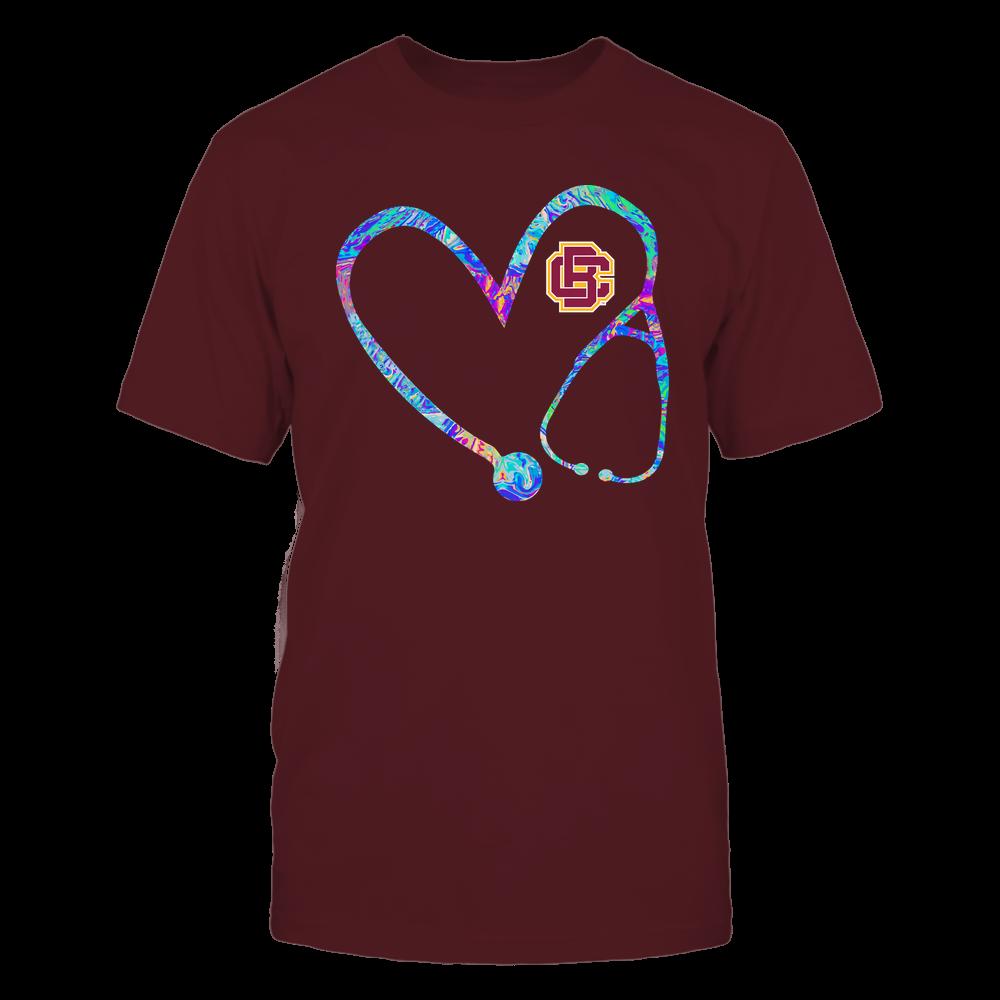 Bethune-Cookman Wildcats - Nurse - Stethoscope Heart - Rainbow Swirl Front picture