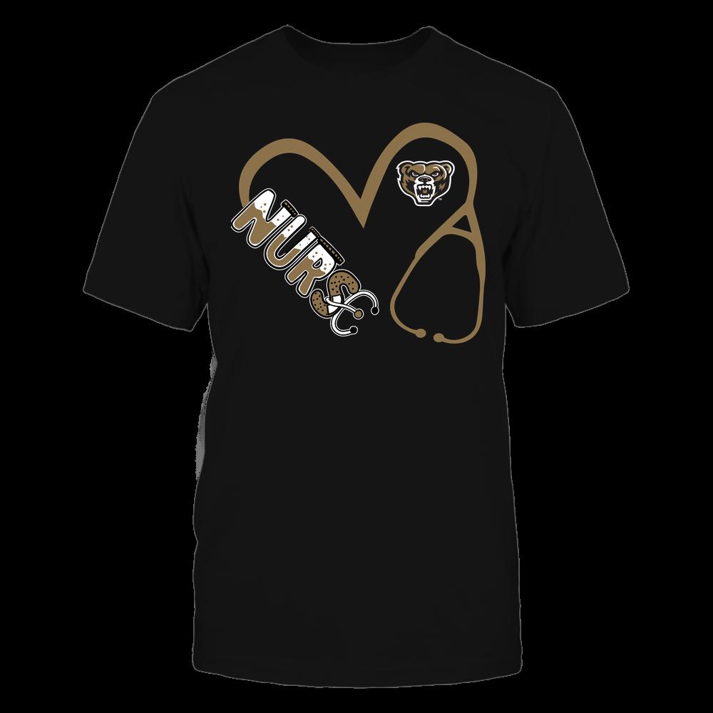 Oakland Golden Grizzlies - Nurse - Heart 3-4 Nurse Things Stethoscope - Team Front picture