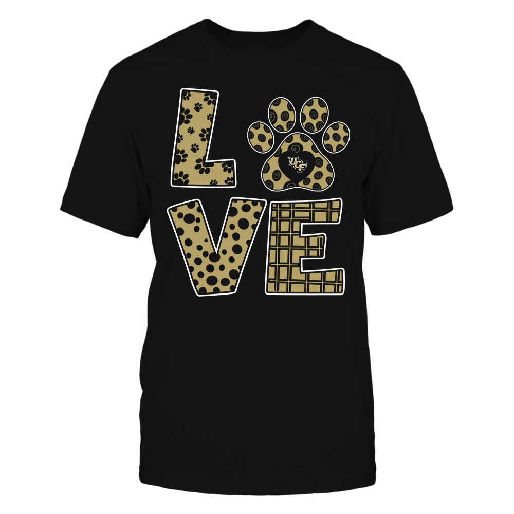 UCF Knights - Stacked Love Paw - Doodle Pattern - Team Front picture