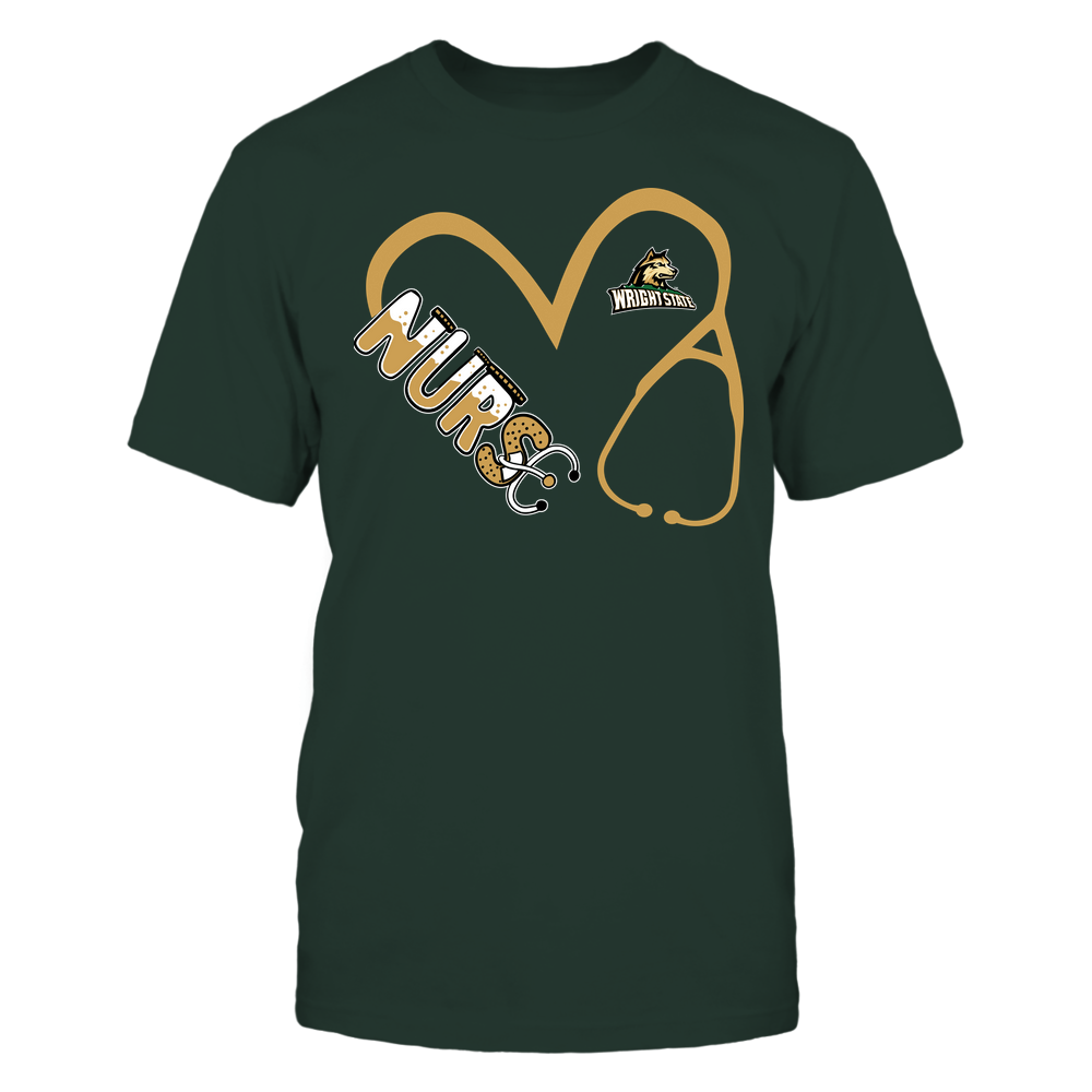 Wright State Raiders - Nurse - Heart 3-4 Nurse Things Stethoscope - Team Front picture