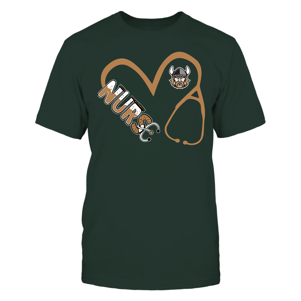 Cleveland State Vikings - Nurse - Heart 3-4 Nurse Things Stethoscope - Team Front picture