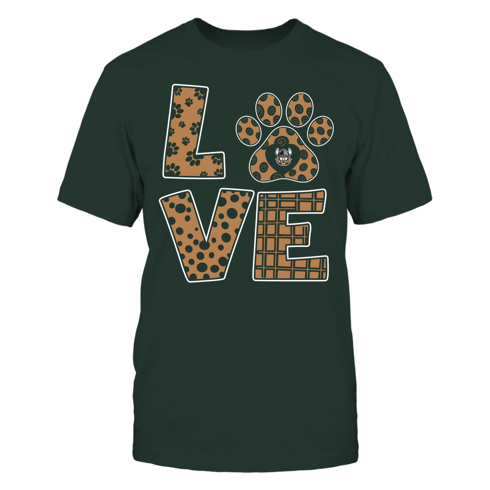 Cleveland State Vikings - Stacked Love Paw - Doodle Pattern - Team Front picture