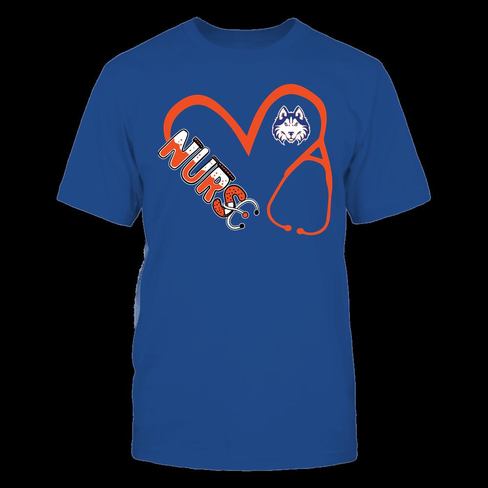 Houston Baptist Huskies - Nurse - Heart 3-4 Nurse Things Stethoscope - Team Front picture
