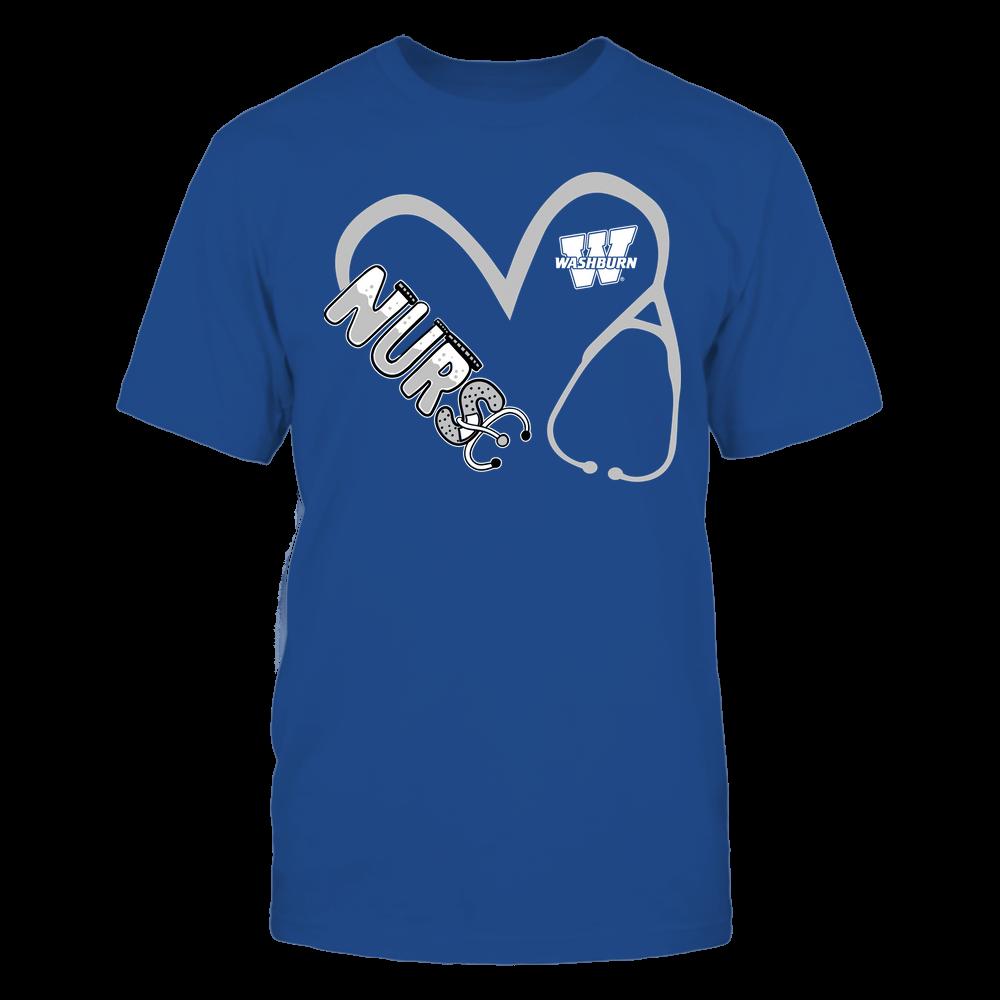 Washburn Ichabods - Nurse - Heart 3-4 Nurse Things Stethoscope - Team Front picture