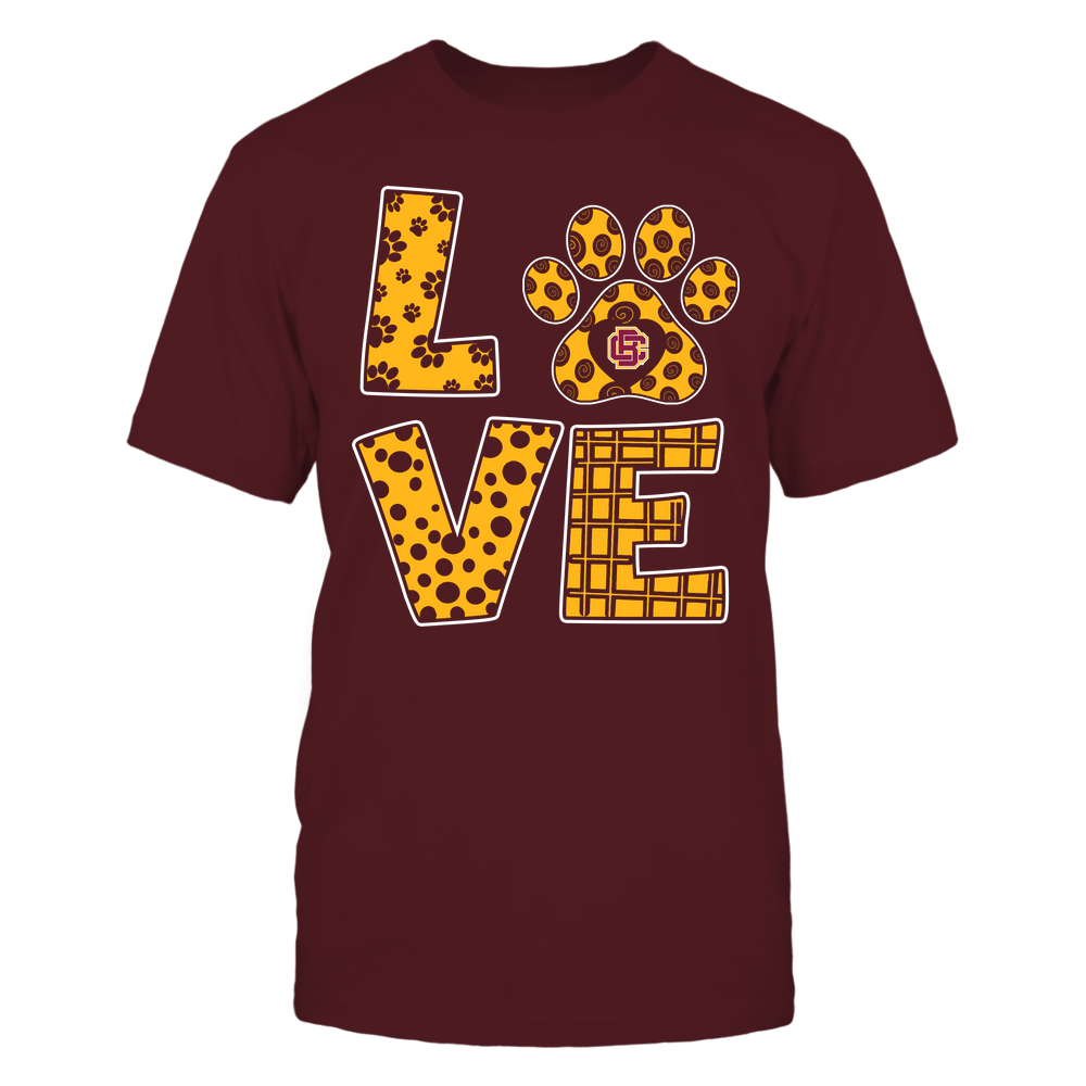 Bethune-Cookman Wildcats - Stacked Love Paw - Doodle Pattern - Team Front picture