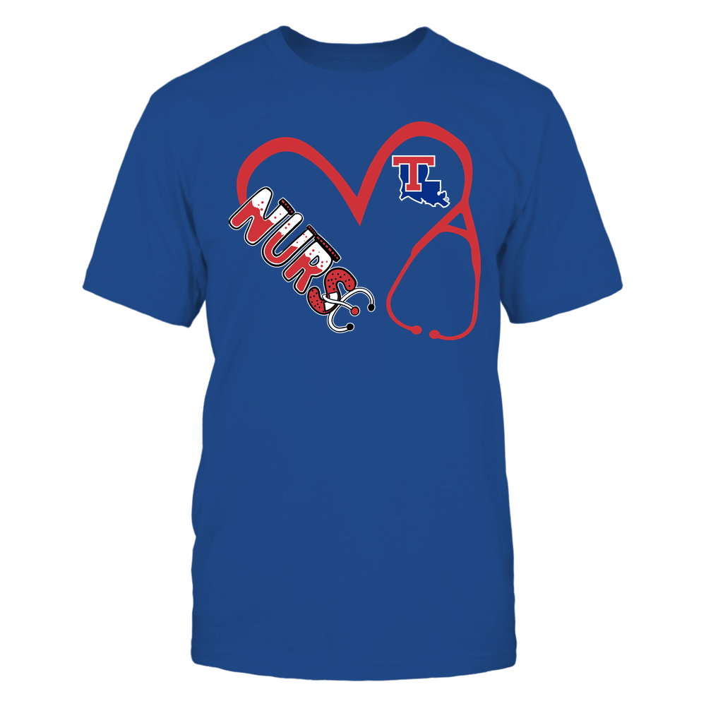 Louisiana Tech Bulldogs - Nurse - Heart 3-4 Nurse Things Stethoscope - Team Front picture