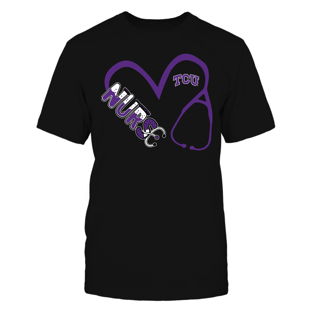 TCU Horned Frogs - Nurse - Heart 3-4 Nurse Things Stethoscope - Team Front picture