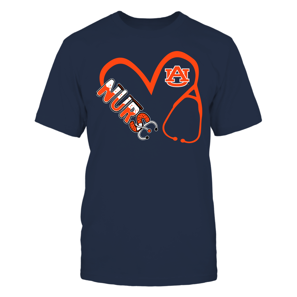 Auburn Tigers - Nurse - Heart 3-4 Nurse Things Stethoscope - Team Front picture