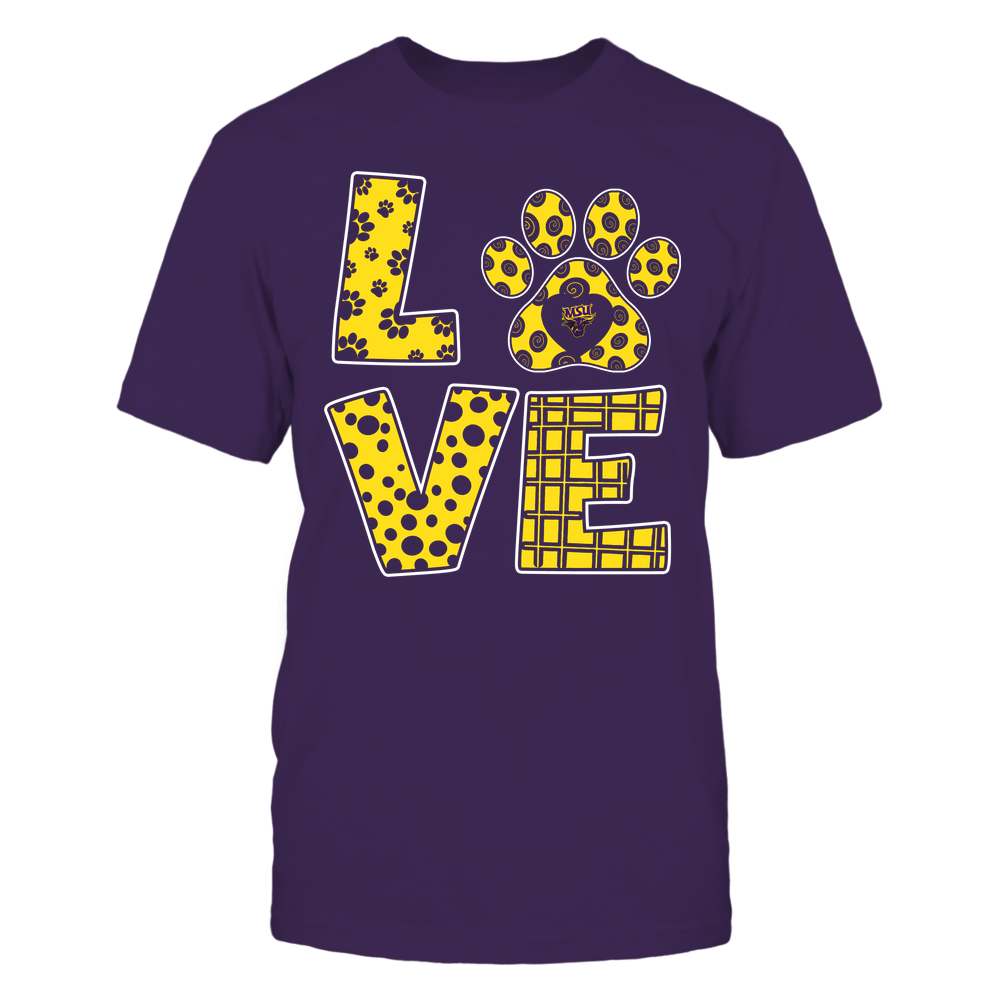 Minnesota State Mavericks - Stacked Love Paw - Doodle Pattern - Team Front picture
