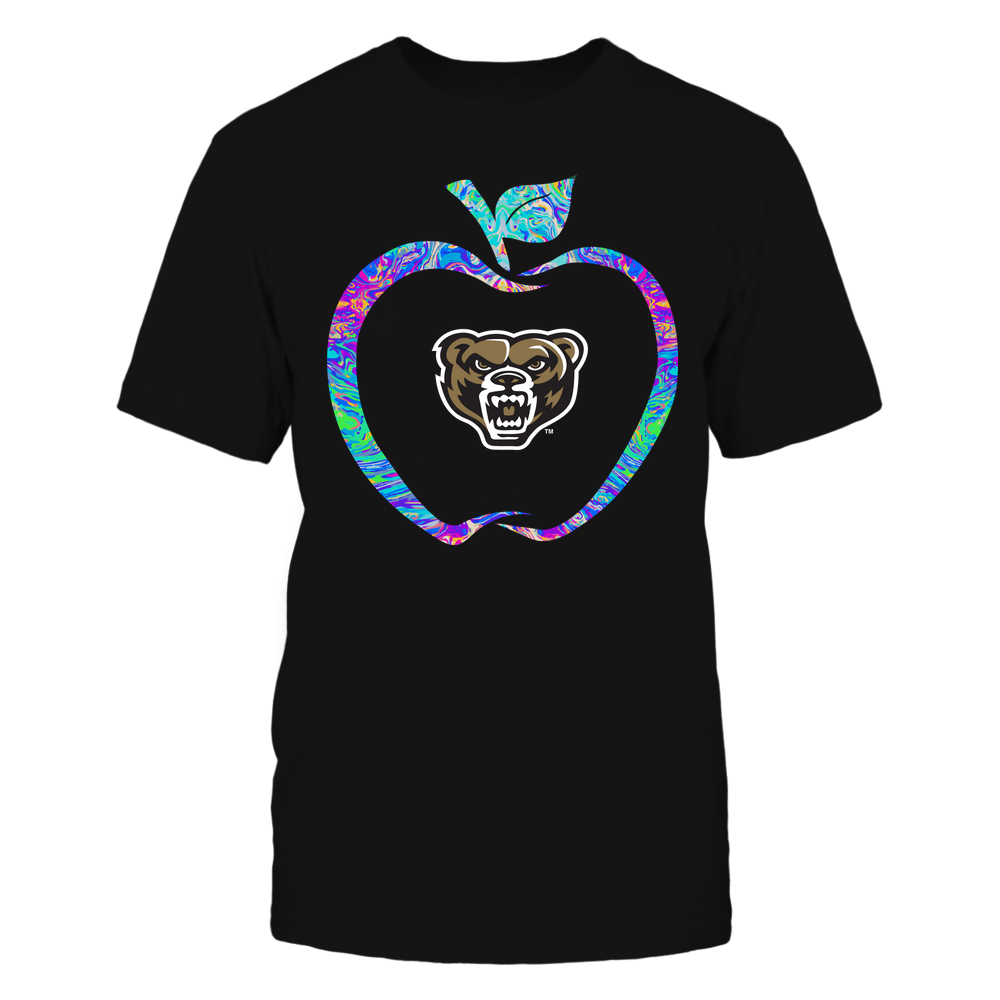 Oakland Golden Grizzlies - Teacher - Apple Outline Rainbow Swirl - Team Front picture