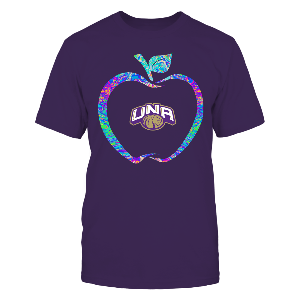 North Alabama Lions - Teacher - Apple Outline Rainbow Swirl - Team Front picture