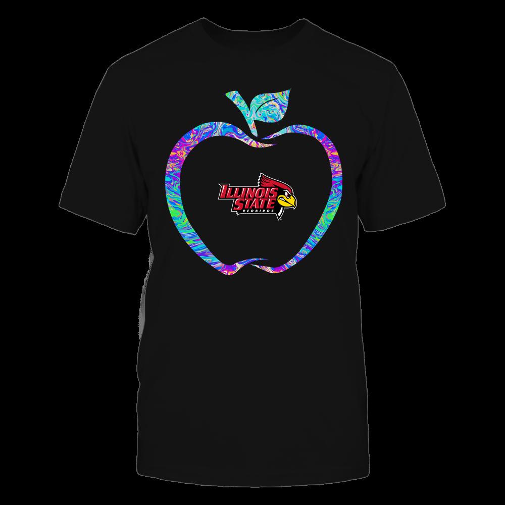Illinois State Redbirds - Teacher - Apple Outline Rainbow Swirl - Team Front picture
