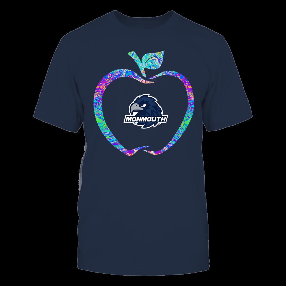 Monmouth Hawks - Teacher - Apple Outline Rainbow Swirl - Team Front picture