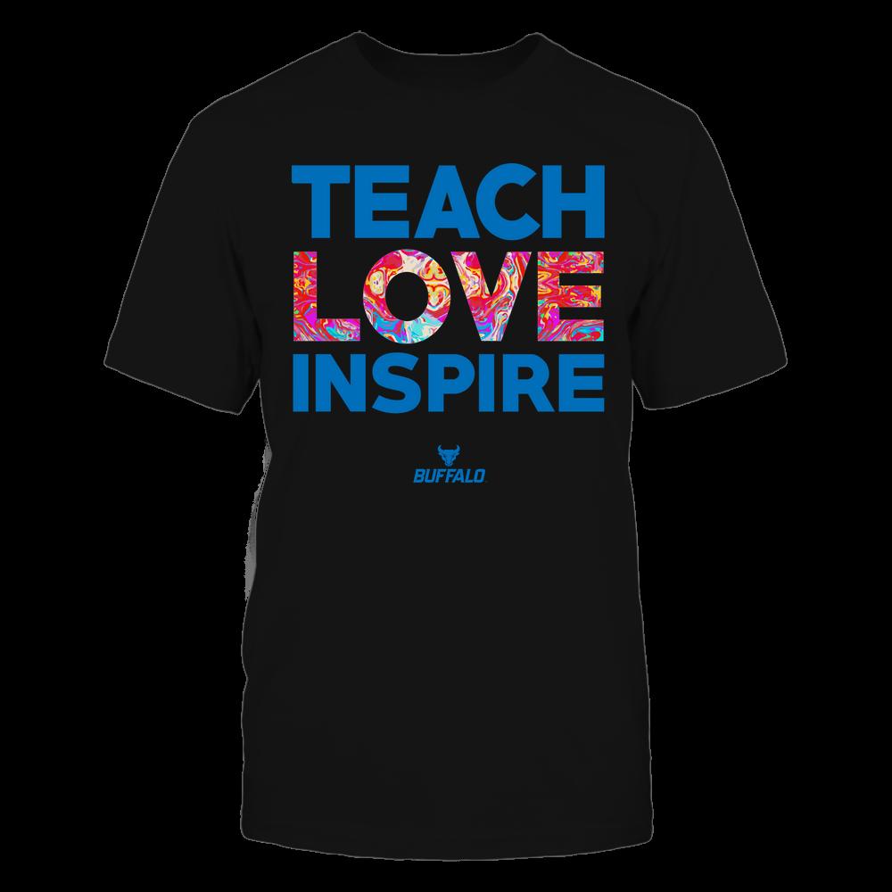 Buffalo Bulls - Teacher - Teach Love Inspire - Rainbow Swirl Front picture