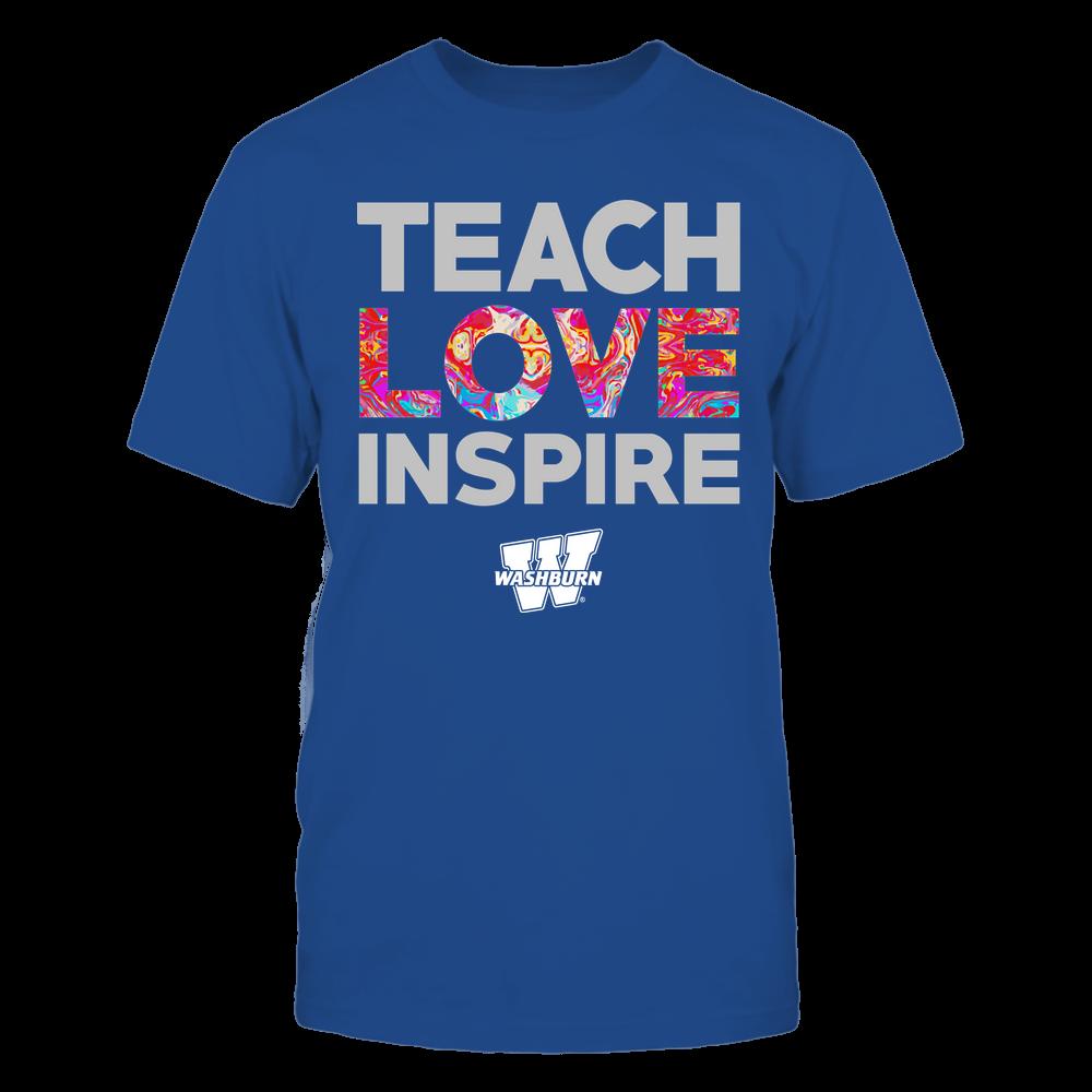 Washburn Ichabods - Teacher - Teach Love Inspire - Rainbow Swirl Front picture