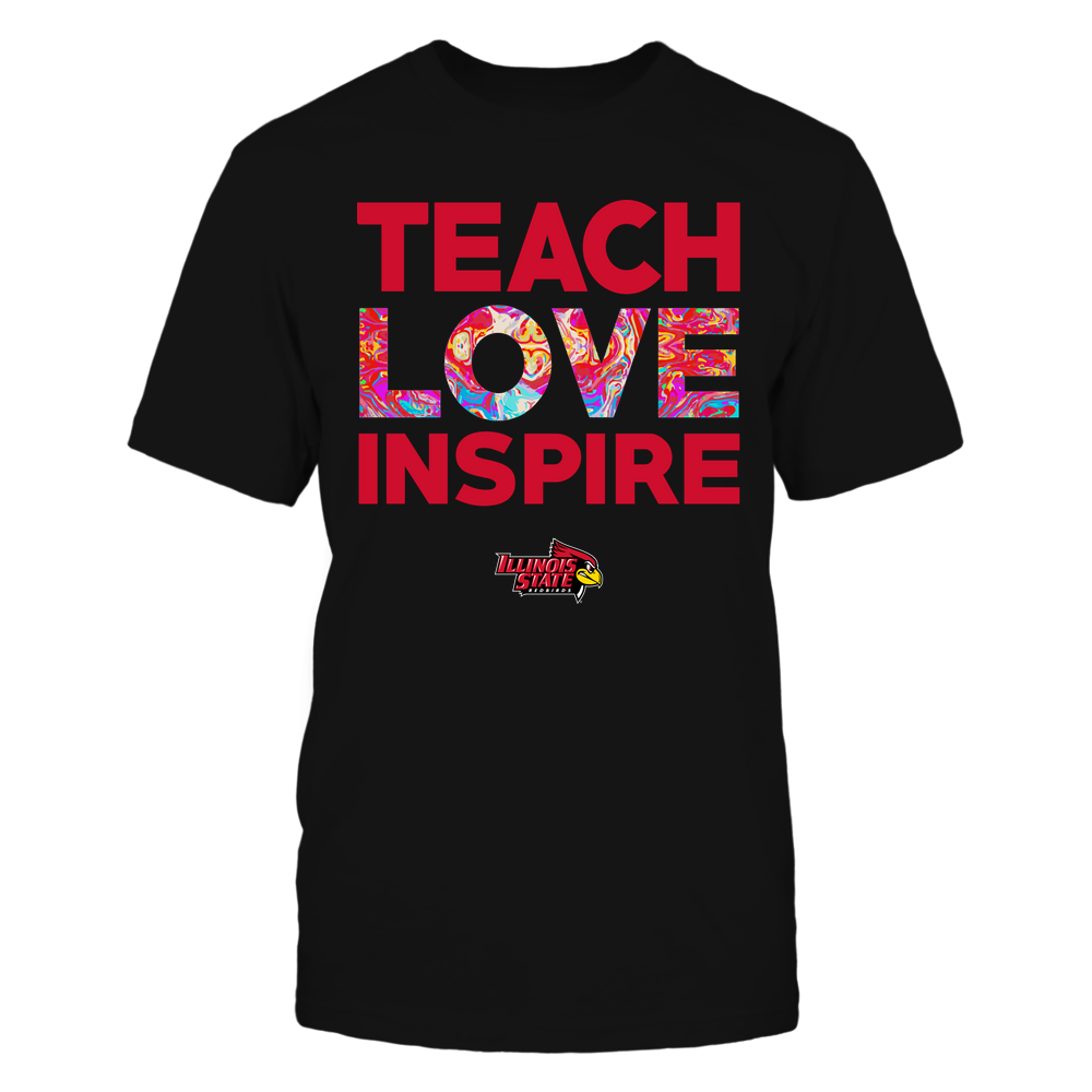 Illinois State Redbirds - Teacher - Teach Love Inspire - Rainbow Swirl Front picture
