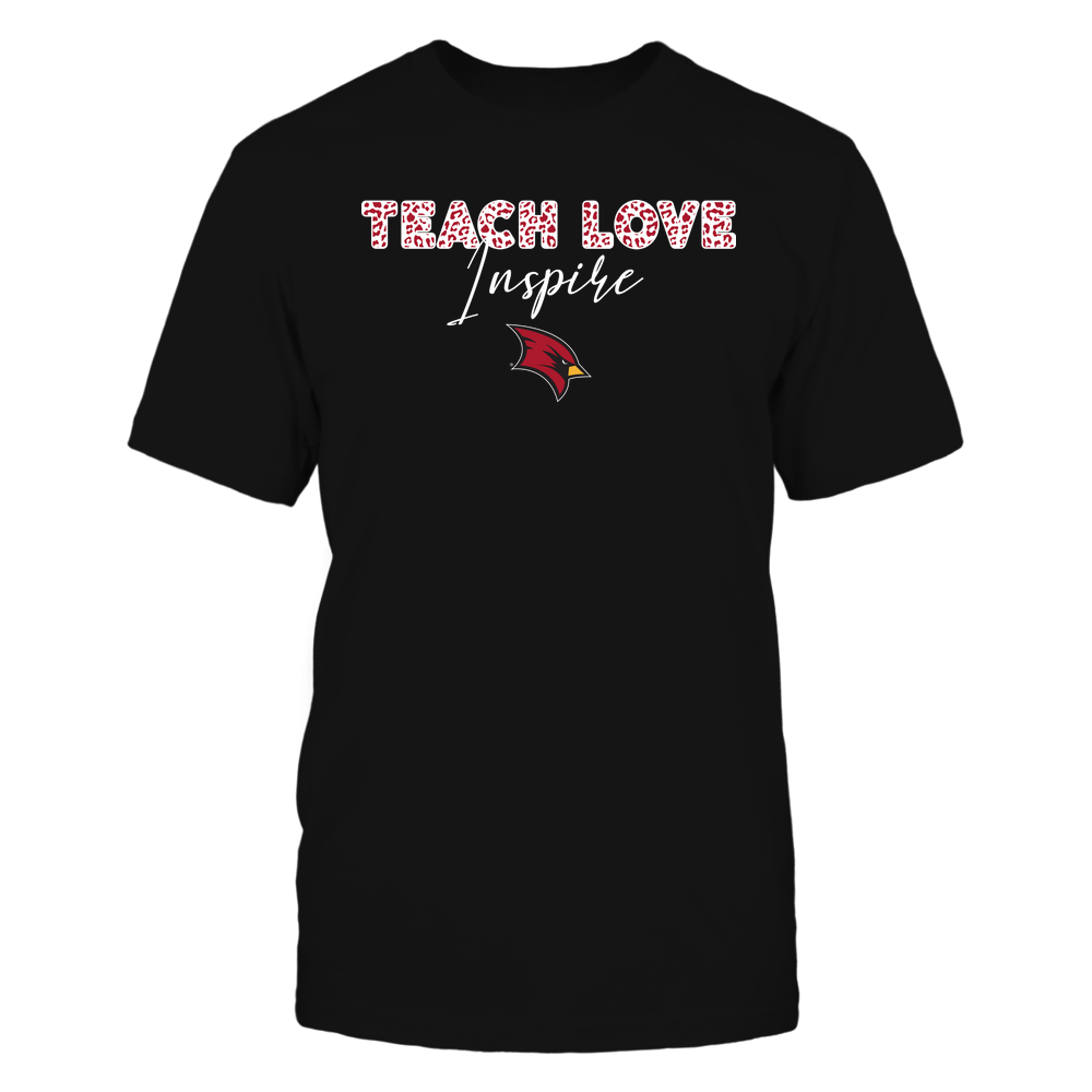 Saginaw Valley State Cardinals - Teacher - Teach Love Inspire - Leopard Swirly Font Front picture