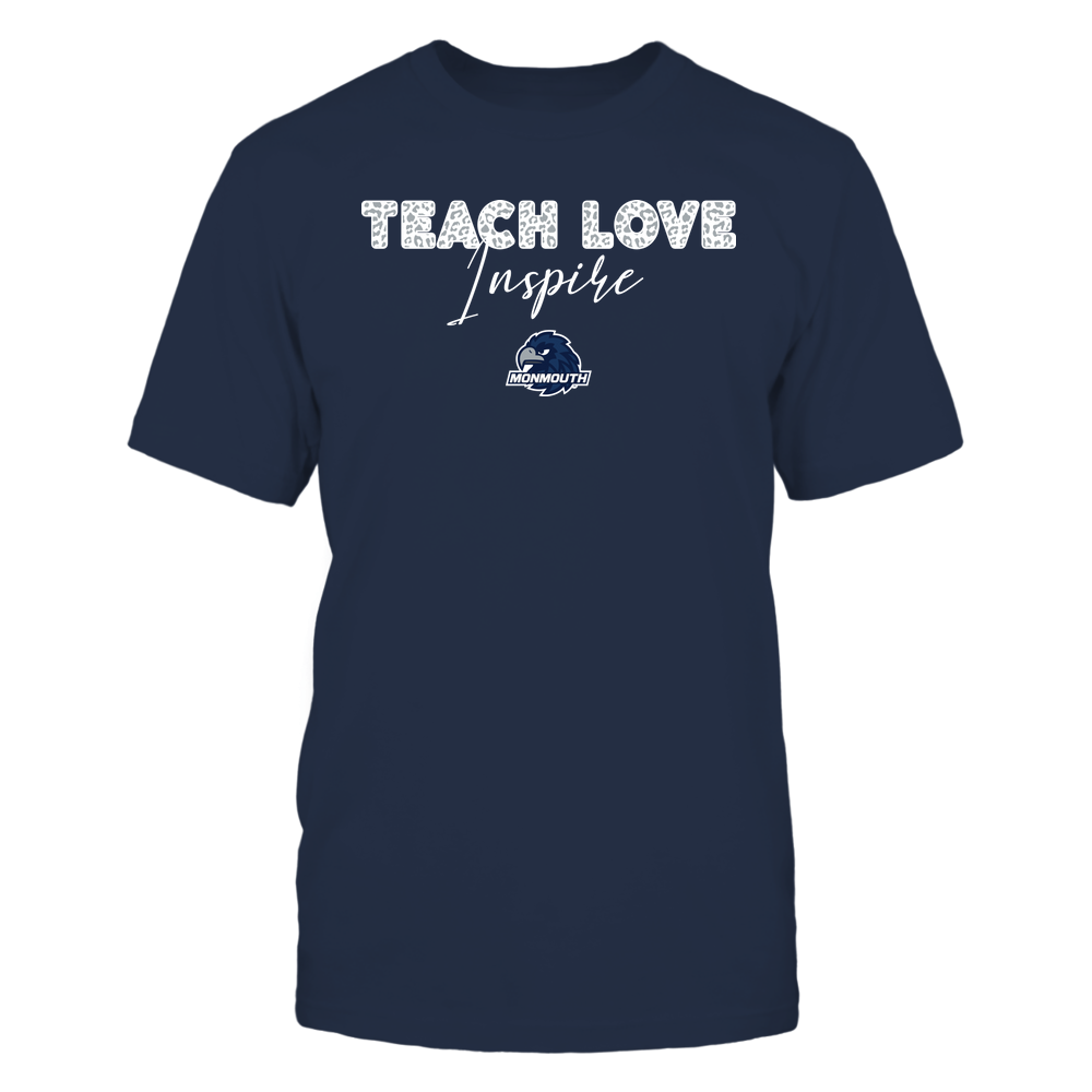 Monmouth Hawks - Teacher - Teach Love Inspire - Leopard Swirly Font Front picture