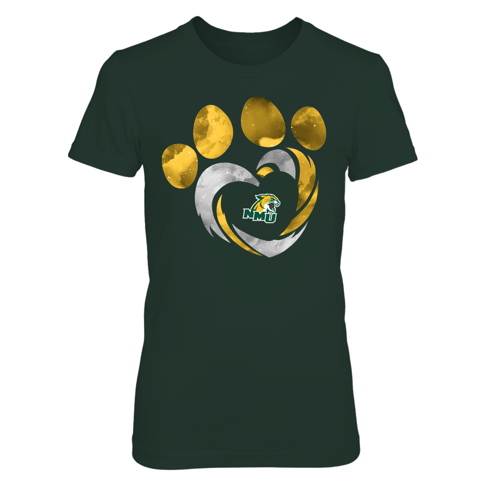 Northern Michigan Wildcats - Galaxy Hurricane - Paw Heart - Team Front picture