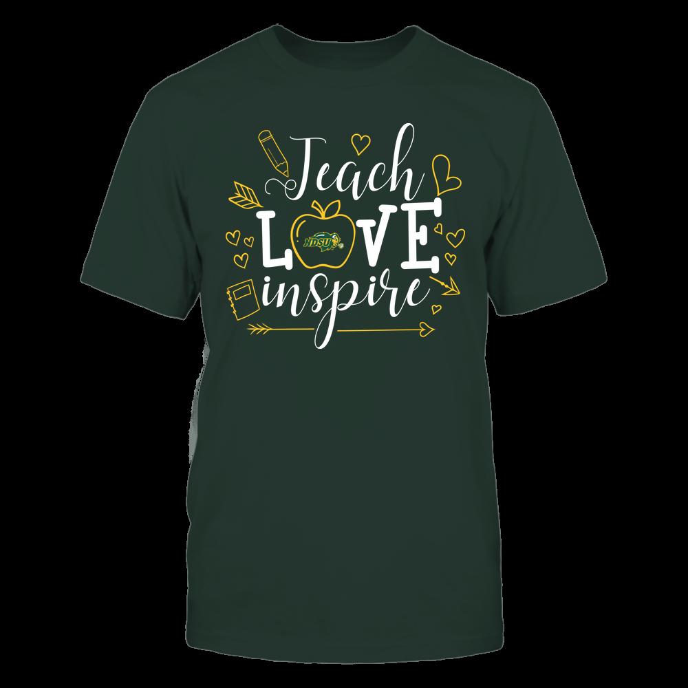 North Dakota State Bison - Teacher - Teach Love Inspire Handrawn Ornaments - Team Front picture