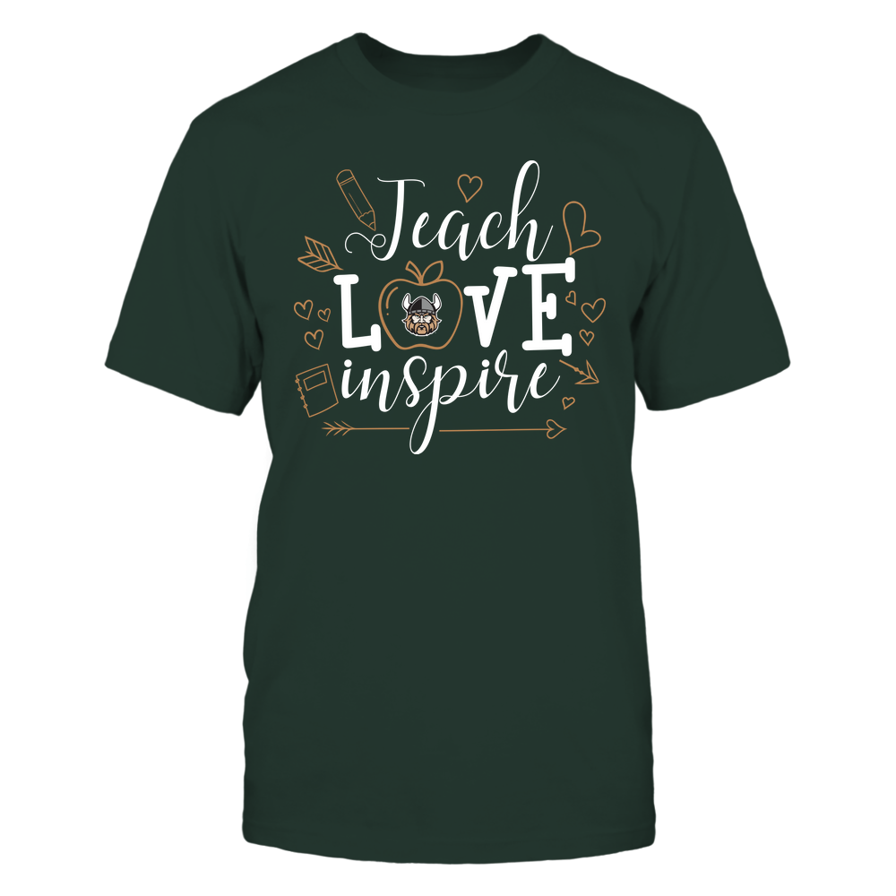 Cleveland State Vikings - Teacher - Teach Love Inspire Handrawn Ornaments - Team Front picture