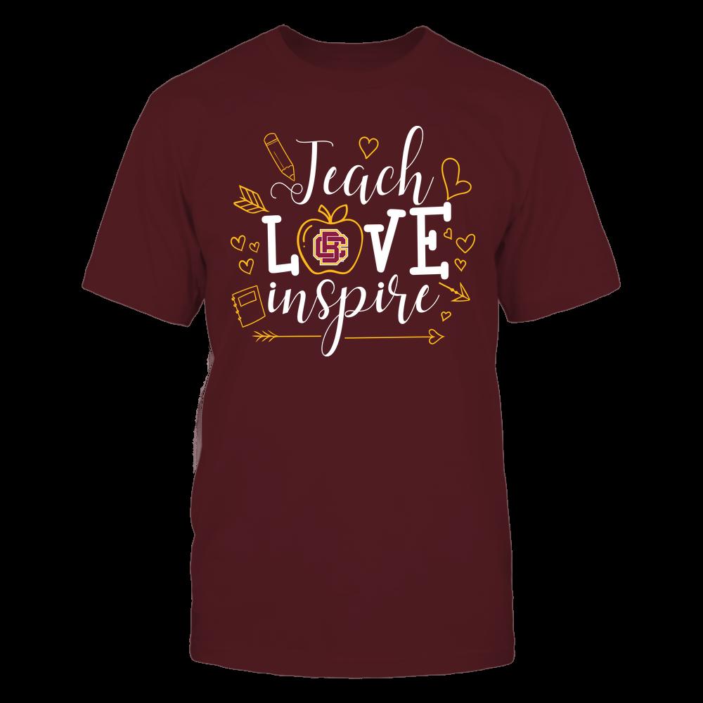 Bethune-Cookman Wildcats - Teacher - Teach Love Inspire Handrawn Ornaments - Team Front picture