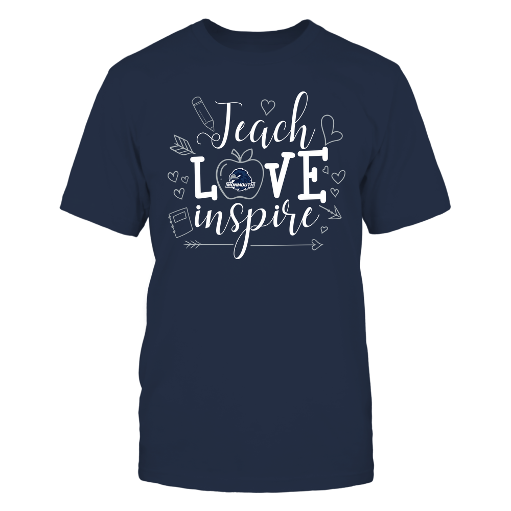Monmouth Hawks - Teacher - Teach Love Inspire Handrawn Ornaments - Team Front picture