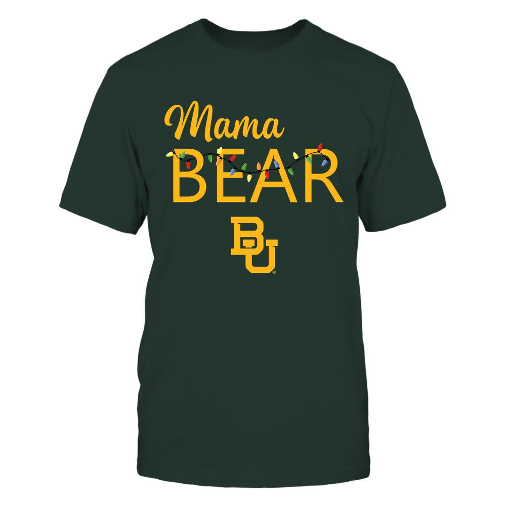 Baylor Bears - Xmas - Mama Mascot - Chistmas Light - IF13-IC13-DS83 Front picture