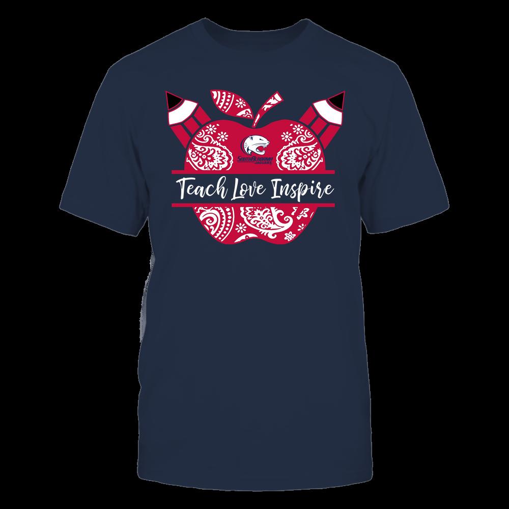 South Alabama Jaguars - Teacher - Teach Love Inspire Monogrammed Apple - Team Front picture