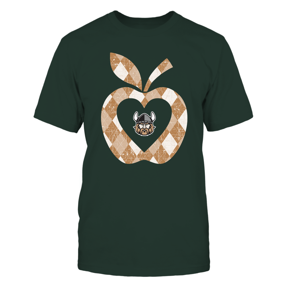 Cleveland State Vikings - Teacher - Argyle Pattern - Apple Front picture