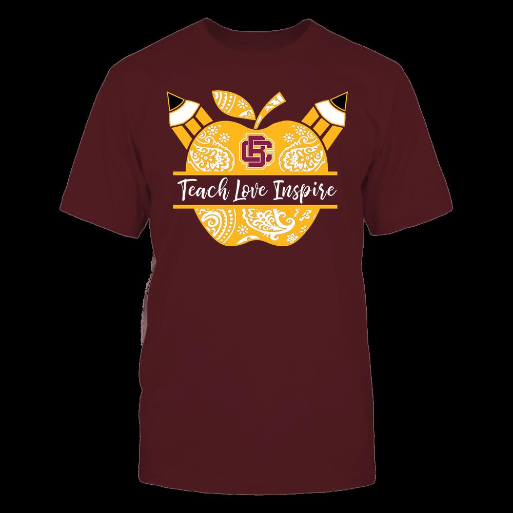 Bethune-Cookman Wildcats - Teacher - Teach Love Inspire Monogrammed Apple - Team Front picture