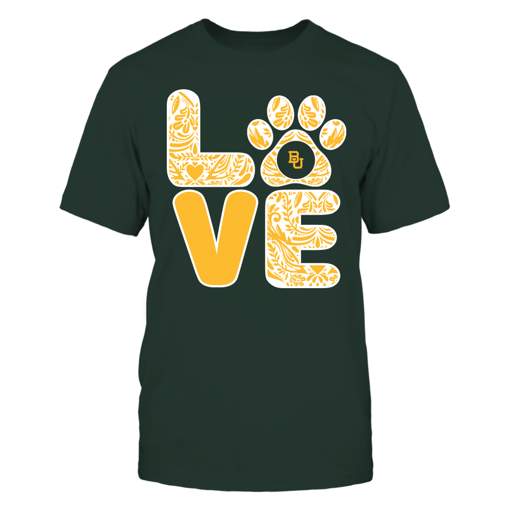 Baylor Bears - Stacked Paisley Love Paw - Team Front picture