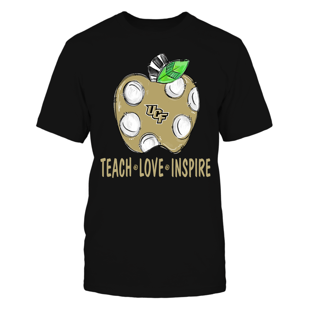 UCF Knights - Teacher ^ Doodle Apple Teach Love Inspire ^ Team Front picture
