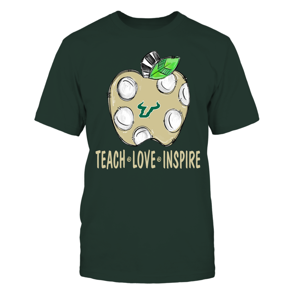 South Florida Bulls - Teacher ^ Doodle Apple Teach Love Inspire ^ Team Front picture
