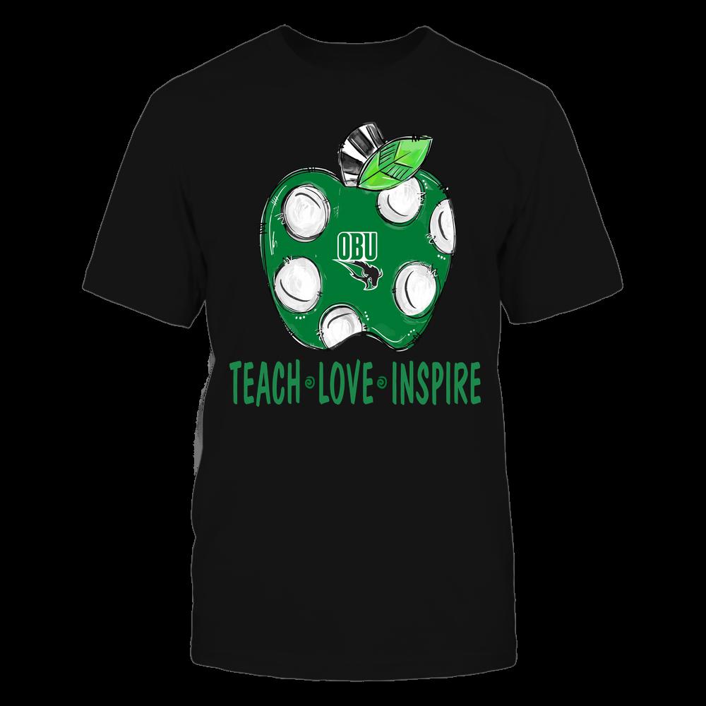 Oklahoma Baptist Bison - Teacher ^ Doodle Apple Teach Love Inspire ^ Team Front picture