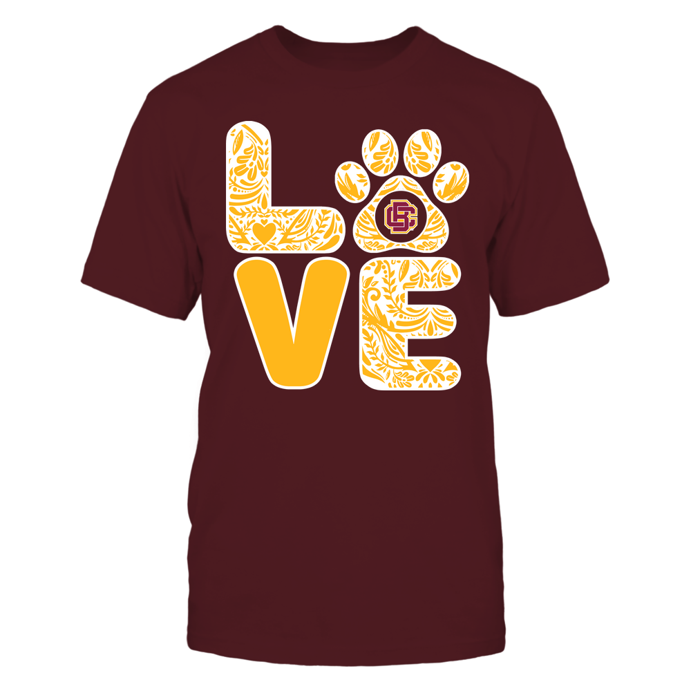 Bethune-Cookman Wildcats - Stacked Paisley Love Paw - Team Front picture